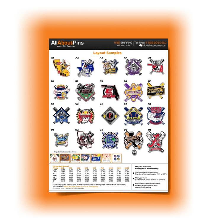 Trading Pins Preview Sheet